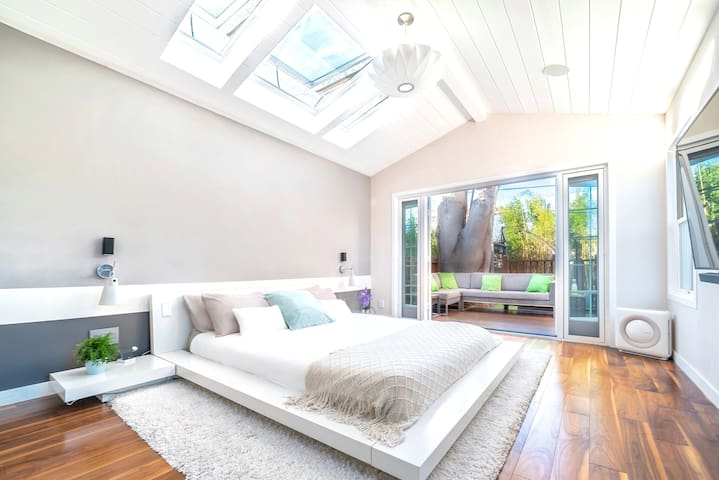 Step right into the gorgeous garden from the master bedroom.