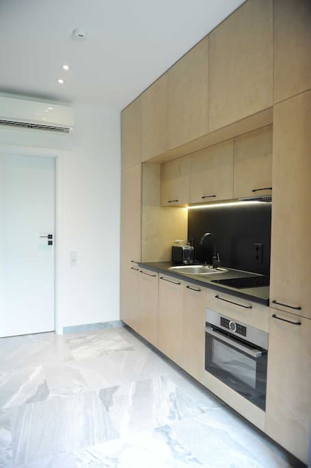 Fully equipped and modern kitchen: with a microwave, oven, spacious fridge, dishwasher, kettle and a toaster