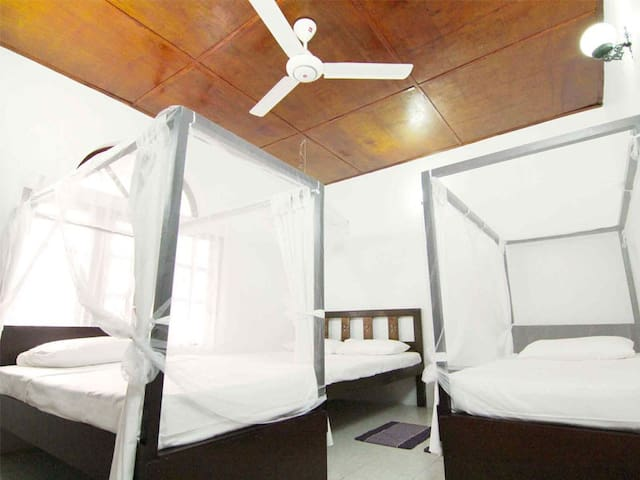 Double Room (1 Double+2 Singles) & Attached Bath