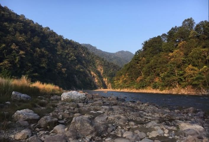 Ramganga river tells you -  There is no hurry. You shall get there someday.