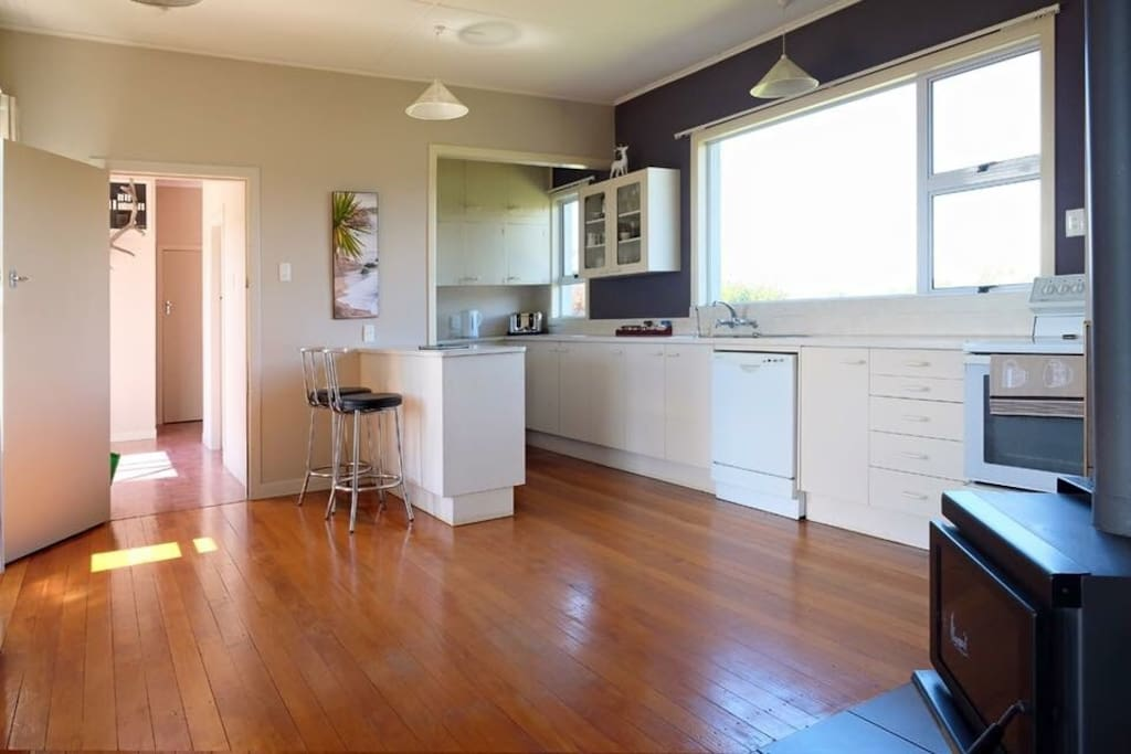 Open planned kitchen with all the amenities.
