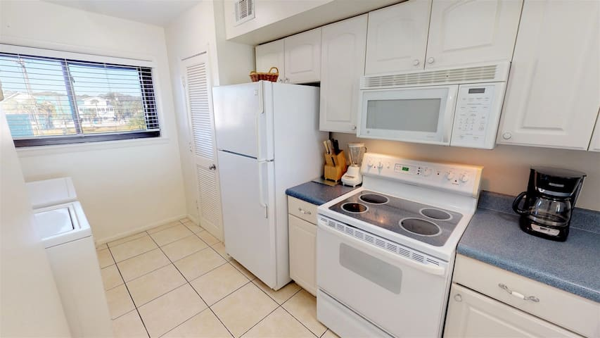 Modern kitchen, equipped with all the necessary appliances and cookwares