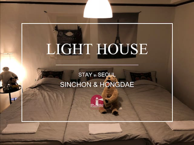 [2 Min from Sinchon stn]Private room three beds-01