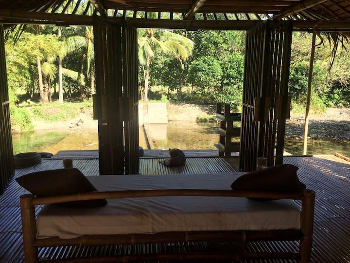 Open river house near boracay island