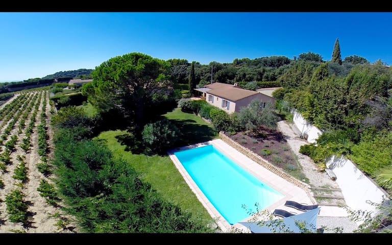 Villa avec piscine colline Châteauneuf-du-Pape - Bédarrides - Casa