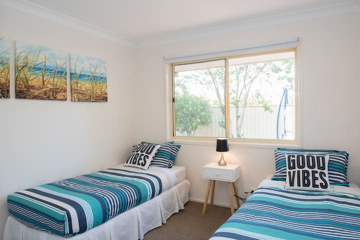 Spacious light and airy Twin Room.