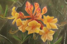 Original artwork displayed throughout the home highlights our region's natural beauty