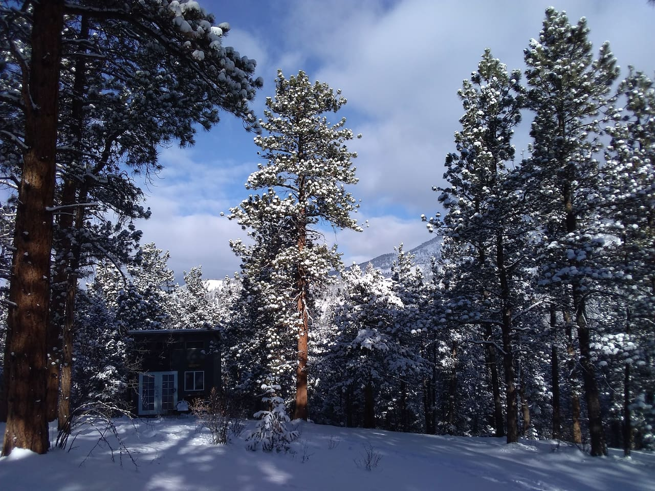 Relax and rejuvenate in your private mountain winter wonder land.
