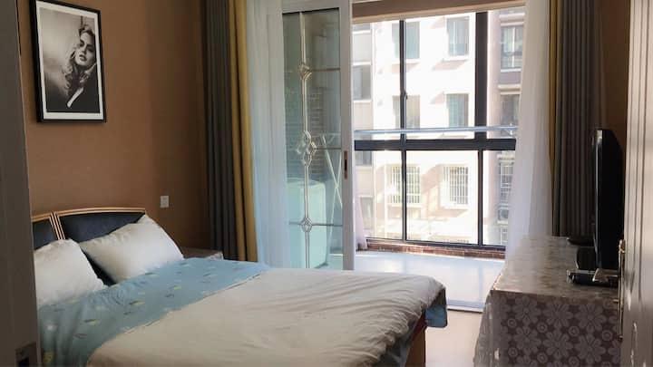 每客消毒/栎社国际机场/奥特莱斯广/可做饭舒适两居室