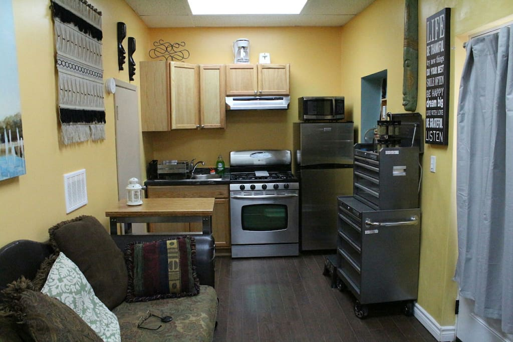 Compact kitchen but has everything you need