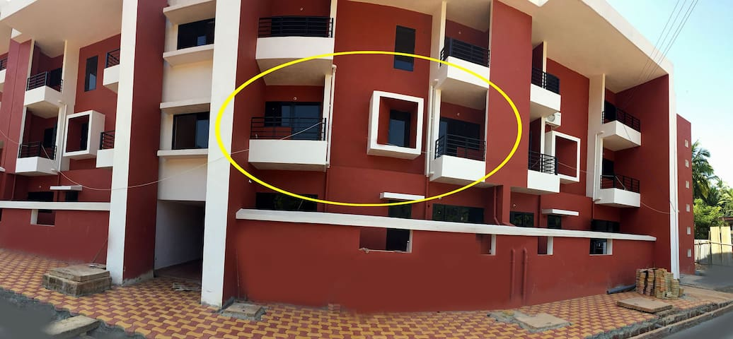 Palolem Beach New Apartment Bharat Heights Ruby - Canacona - Flat