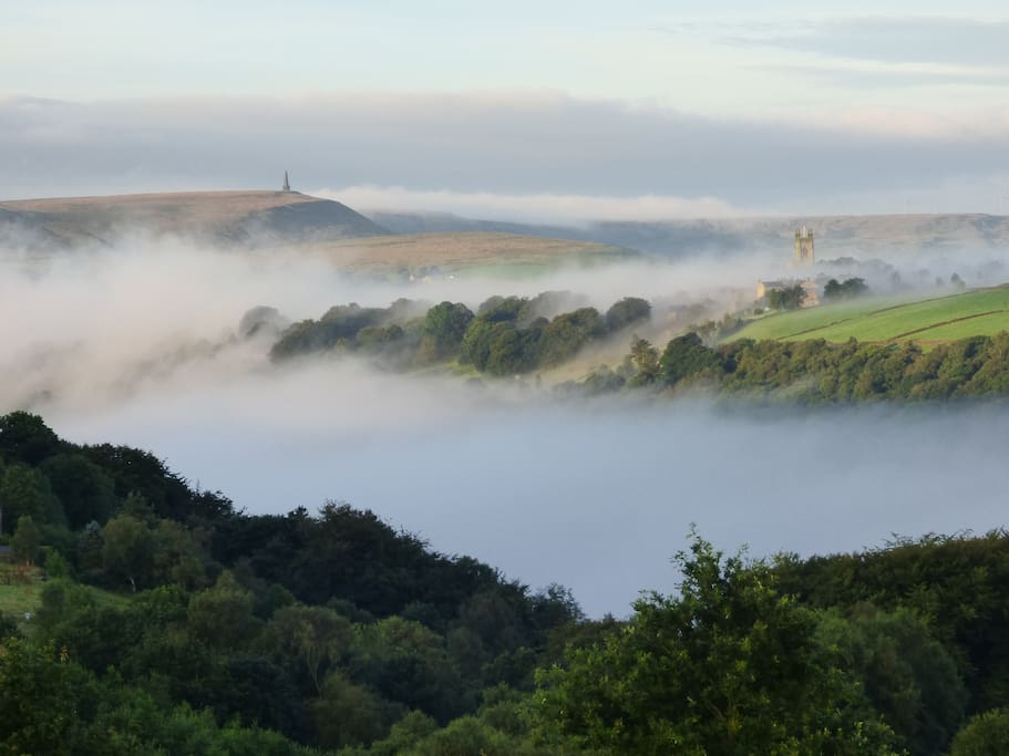 View from Elmet Farmhouse - the famous River of Mist