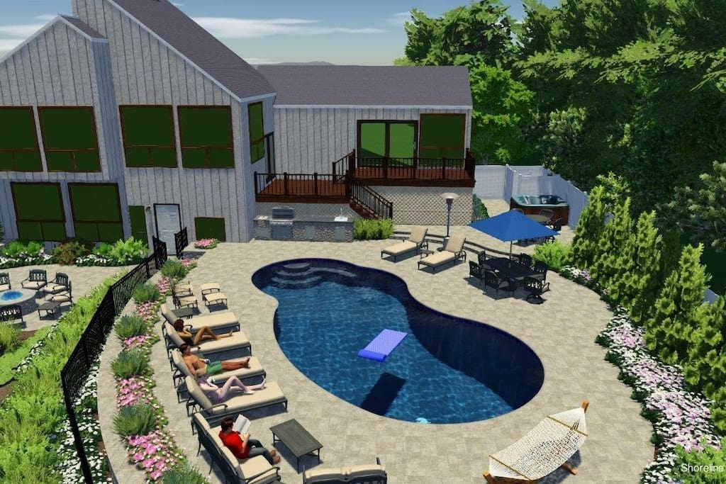rendering of new back yard