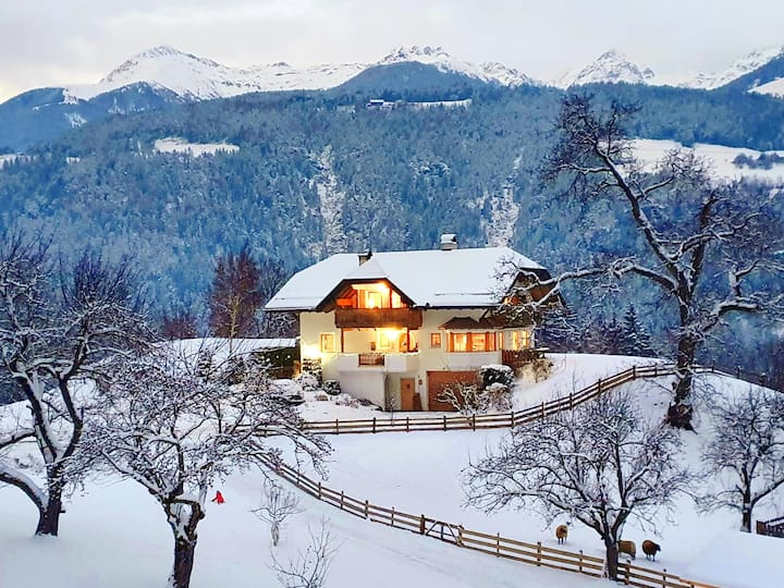 "Modern holiday apartment ""Oberplunerhof - FeWo Bruneck"" with Wi-Fi, balcony, beautiful beautiful view; parking available"