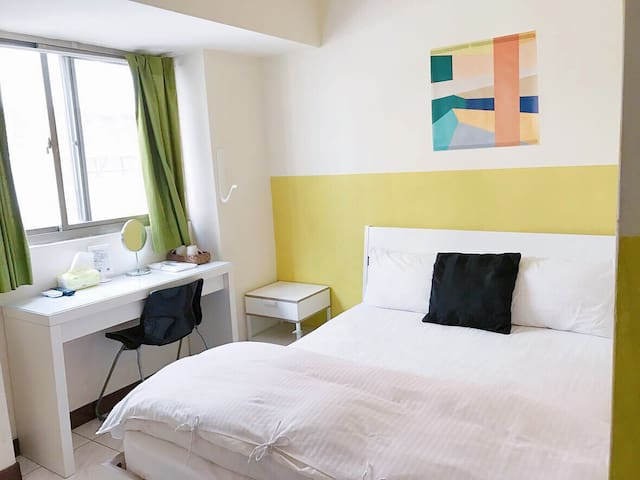 逢甲・宿 電梯自助雙人套房 Sunny Yellow - Xitun District - Appartement