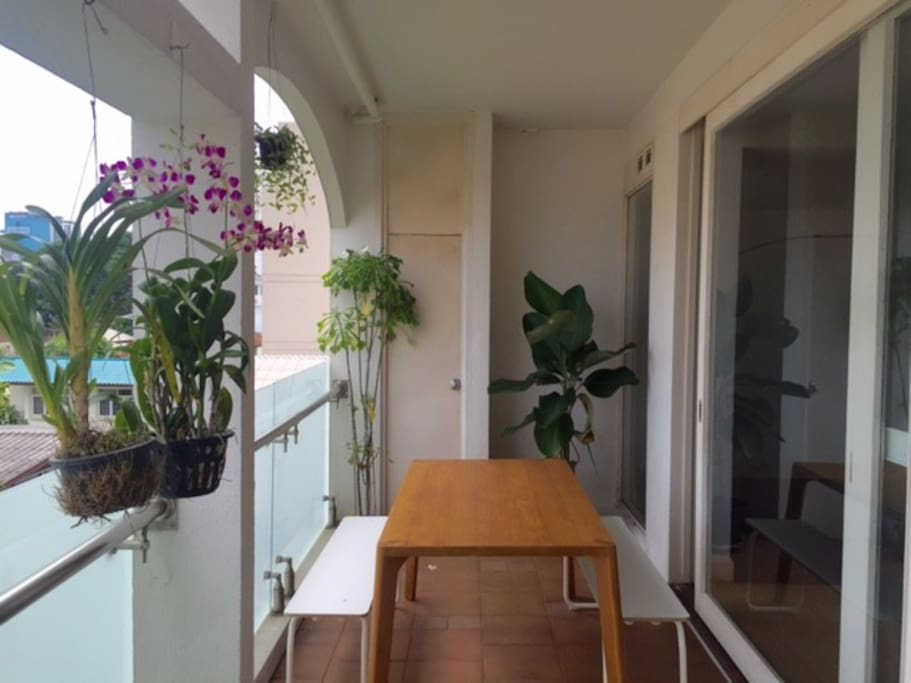 Nice balcony for dinner / drinks