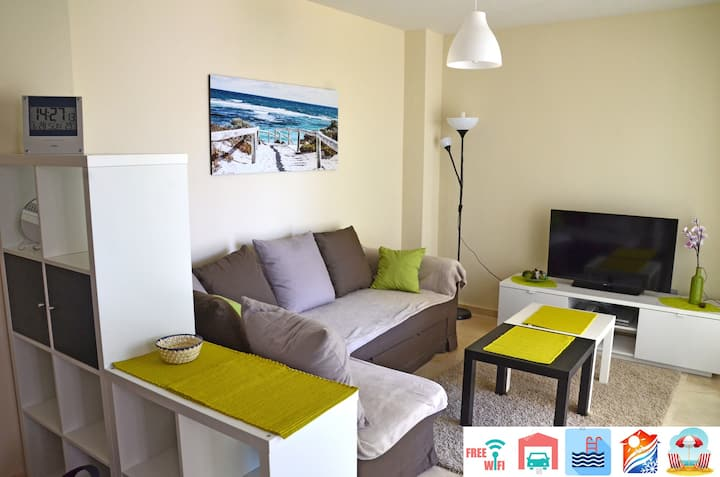 New&light, Wi-Fi, private parking, pool, aircon