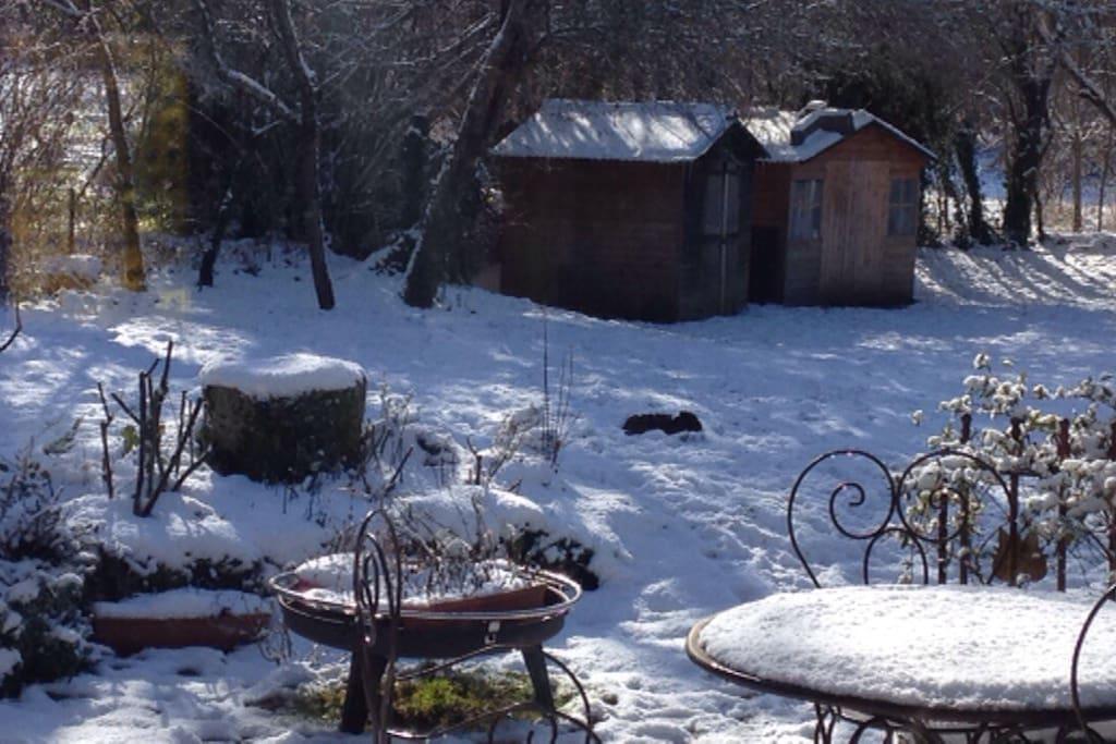 En hiver au jardin