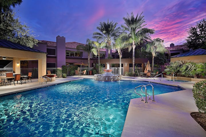 Prime Location, Heated Pool, Spa, Fitness, & More
