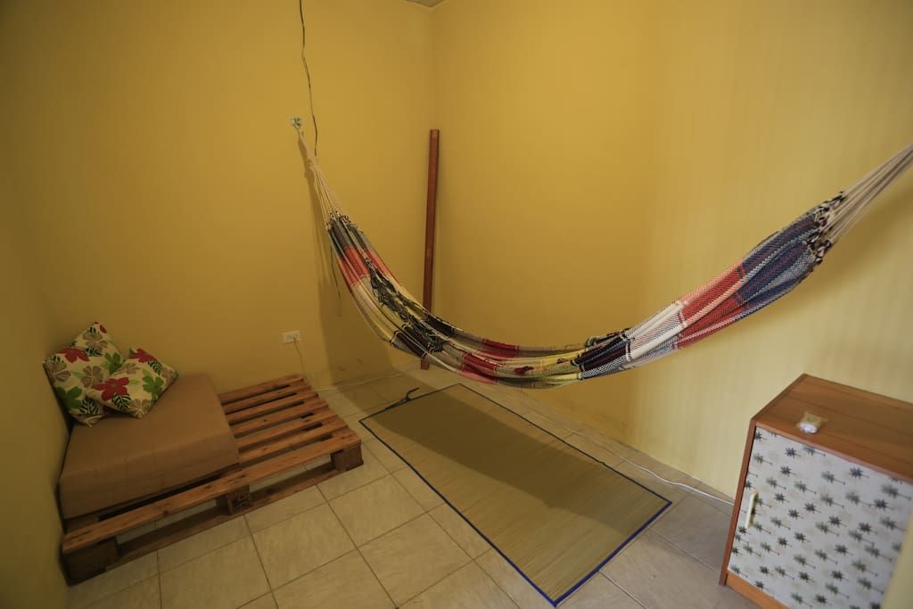 2 person hammock in adjoined bedroom