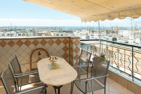 Center/Bright/Balcony/Great view/WF - Thessaloniki - Apartment