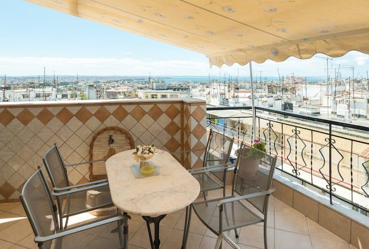 Center/Bright/Balcony/Great view/WF