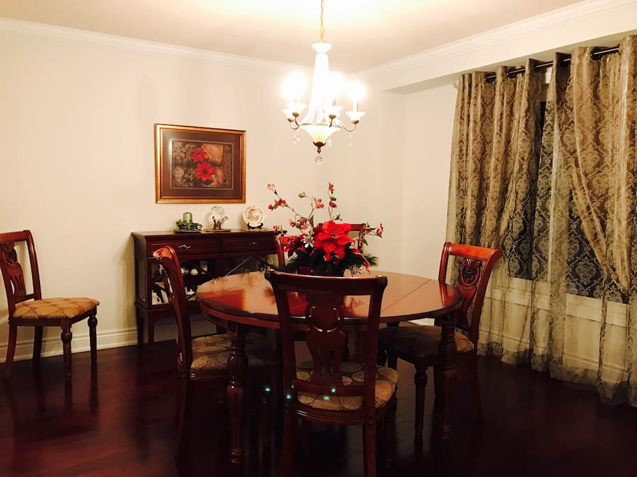An elegant dinning room on the ground floor close to kitchen