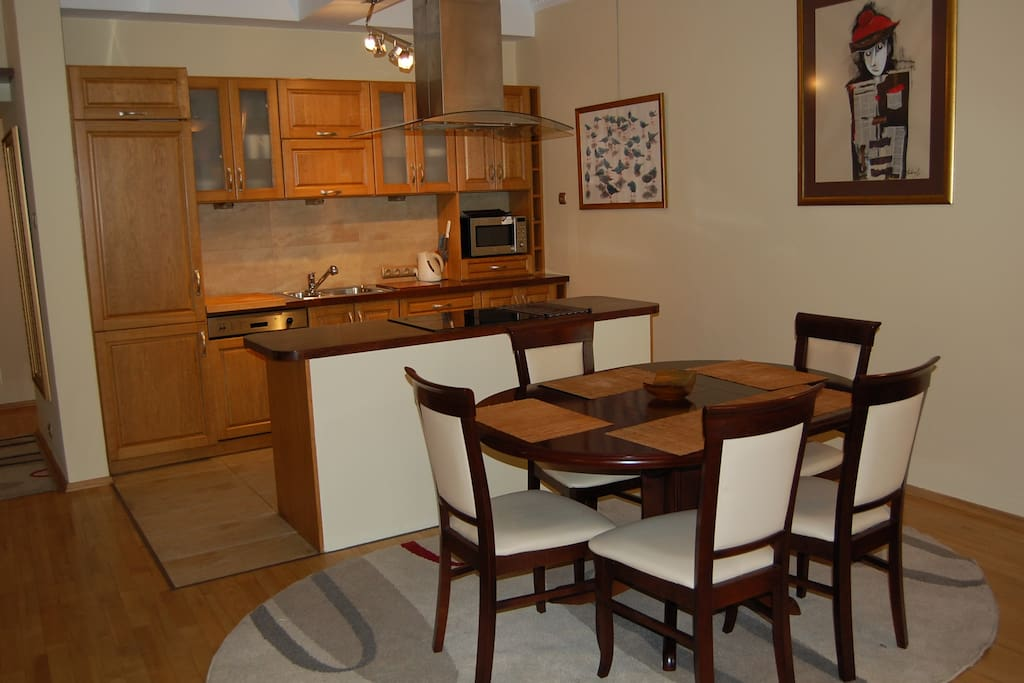 Dinning Room Table + Kitchen