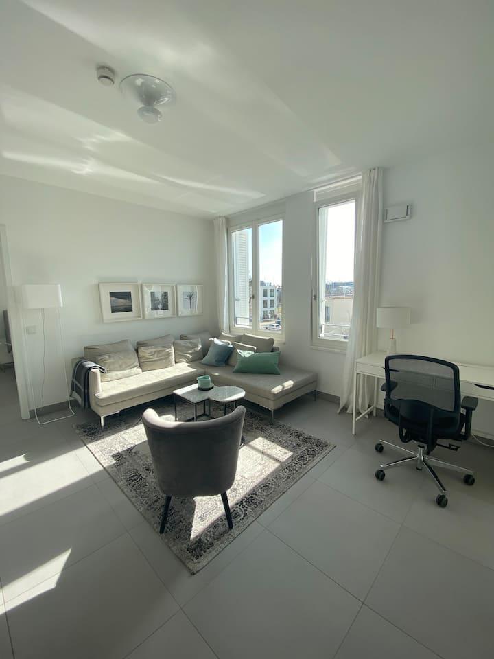 Luxuriöse 2-Zimmer Wohnung in Neuhausen mit Balkon
