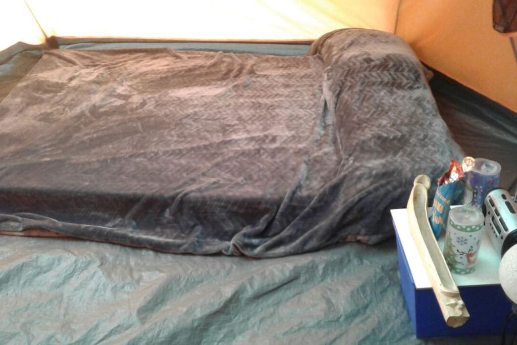 double air mattress with bedding included