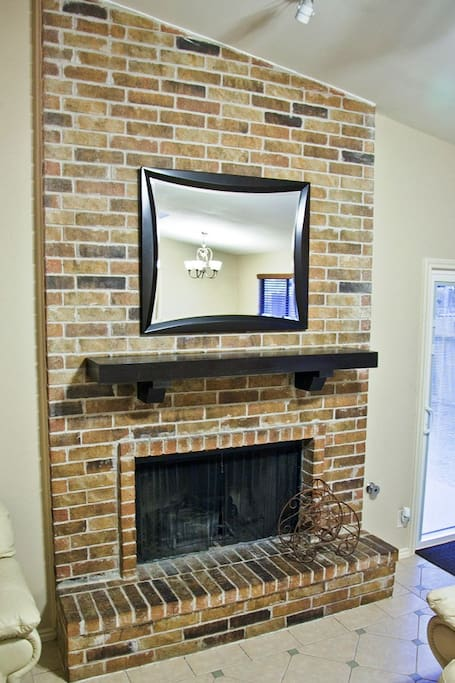 Beautiful, working fireplace for both of the winter days in Texas! :-)