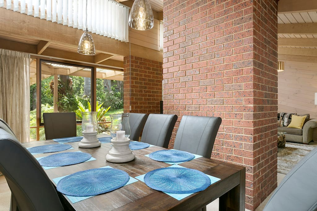 Great dining area for relaxed dining and conversation.