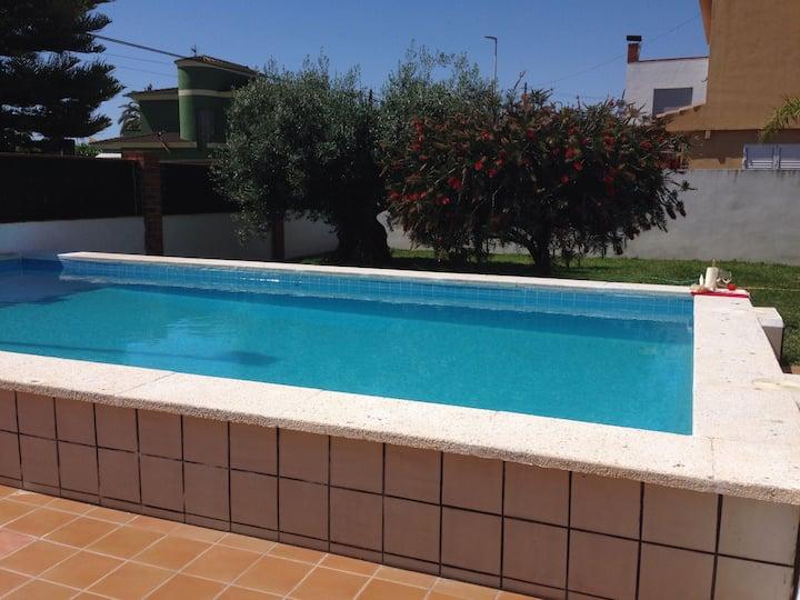 ❤️Apartamento en Casa n2 en Playa & Piscina,Jardín