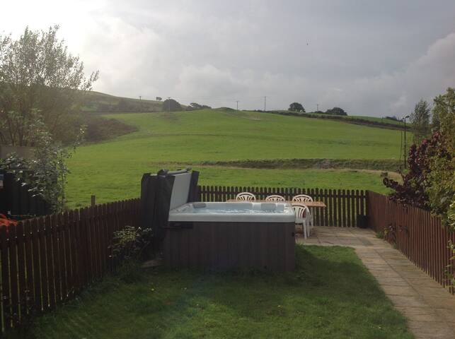 Pendre, Tregaron (sleeps 5 + 2 dogs) wifi, hot-tub