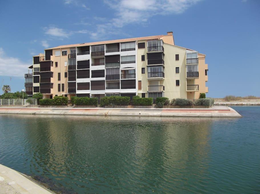 residence vue sur la lagune