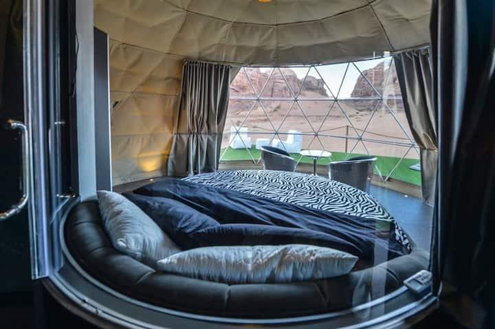Palmera Camp wadi Rum  Jordan  Martian Tent