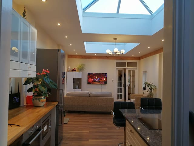 Stunning private modern cottage in old farm house!