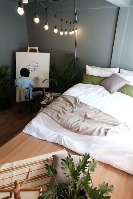 Painting in room