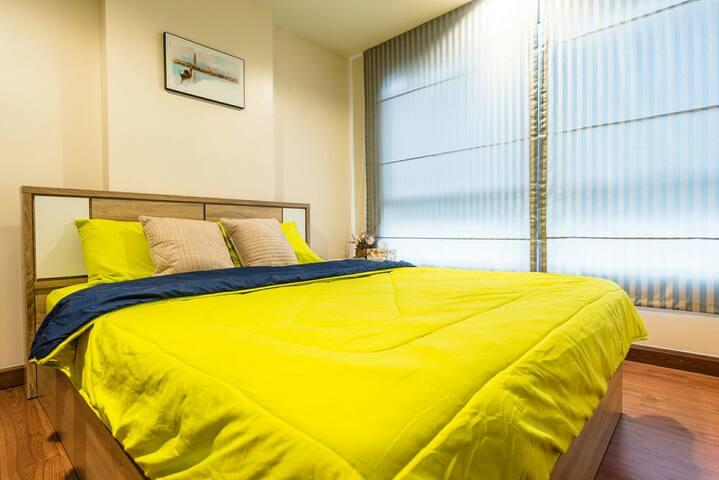 Cozy apartment Ratchada 5min to subway free wifi - Bangkok - Apartment