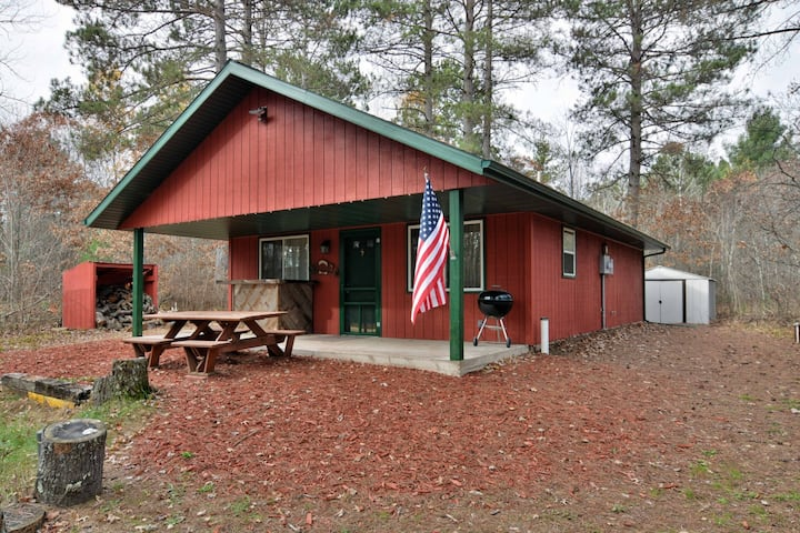Valley Red Cabin ~ Barnes, Wisconsin - Hosted By North Country Vacation Rentals