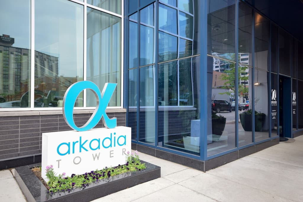 Arkadia Tower Building Entrance
