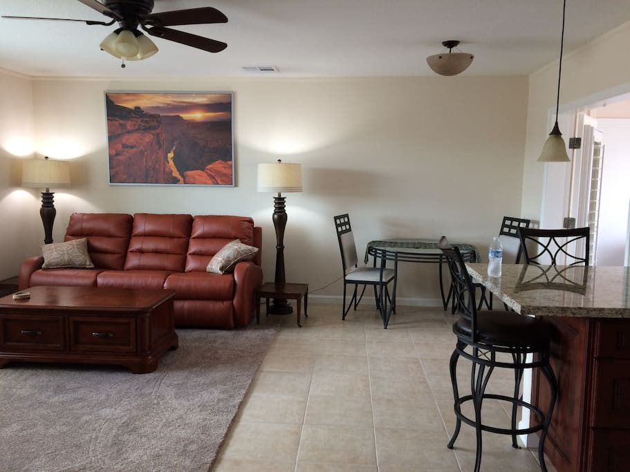 Open Concept Living Room and Kitchen areas