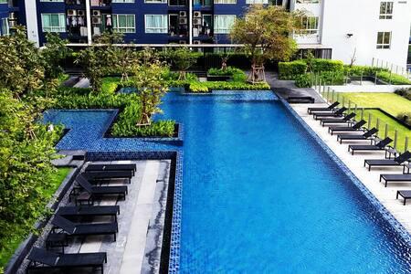 Cosy Room 27 FL/BTS TRAIN/WiFi/POOL - Banguecoque - Apartamento