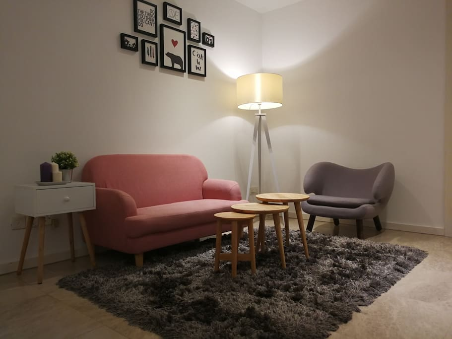 cozy night feel at living area