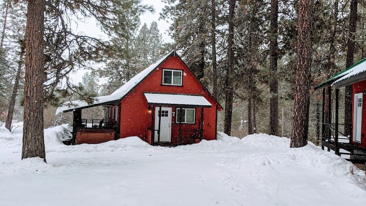Cozy Red Cabin