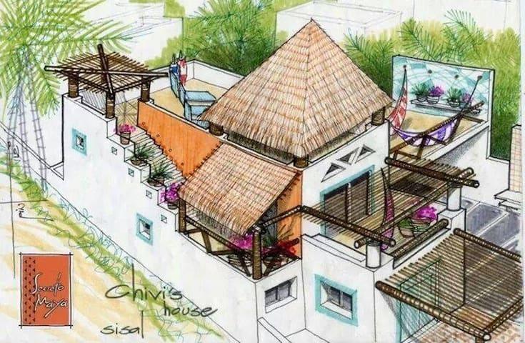 Sisal Yucatán linda casa de playa . - Merida - House