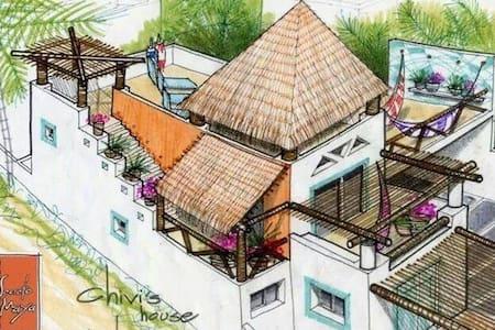 Sisal Yucatán linda casa de playa .