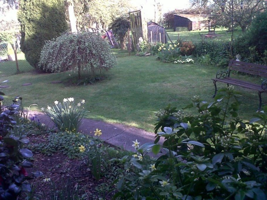Enclosed garden at our cottage