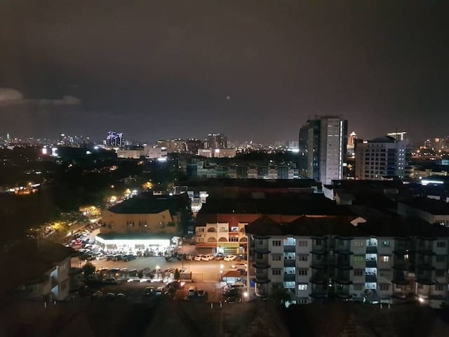 Night view from our unit