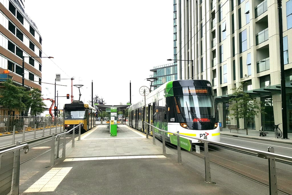 FREE tram 11 and 48 to/from City Centre (CBD) at the door step